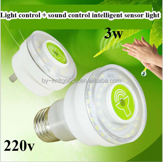 Super bright sound light controlled intelligent lamp integrated acoustic control induction lamp LED lighting clap bright night l