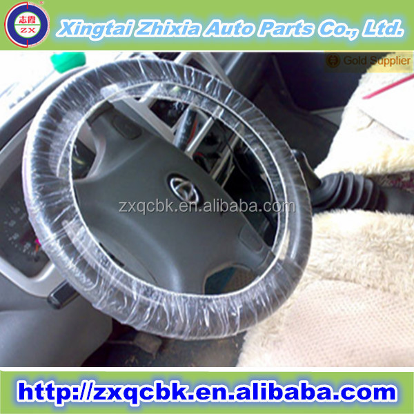 Zhixia factory supply free sample disposable car steering wheel cover,plastic car seat cover protector