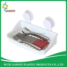 Plastic rectangle suction shelf