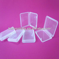 small cube shaped clear plastic box