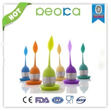 OEM FDA novelty unique tree shape silicone tea infusers wholesale