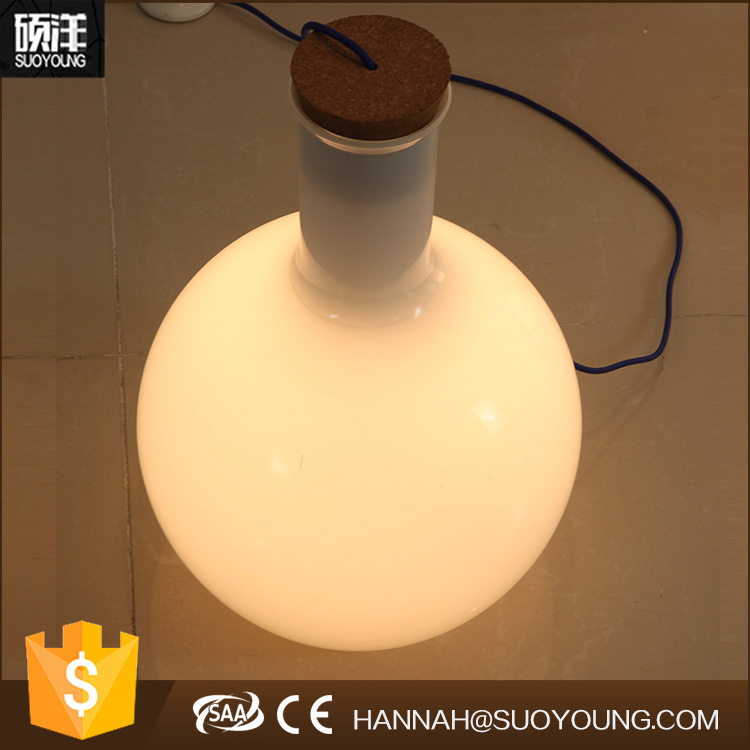 Europeam modern simpale design warm light ball round wine vase shape portable luminaire study table lamp for bedroom