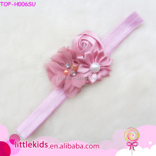 Wholesale Infant Knotted Head Baby Girls Flower Crochet Headbands