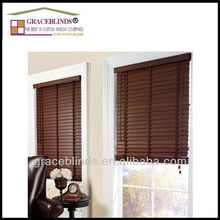 window wood venetian blinds for Living room with wide ladder tape cord tilt 50mm solid wood slats