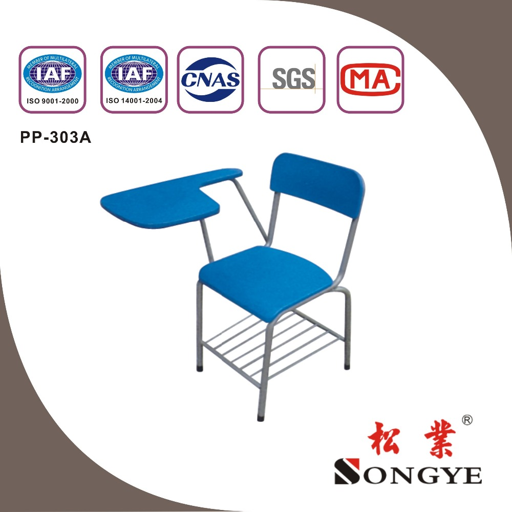 SY Good quality wooden tablet chair tablet arm chair-school furniture