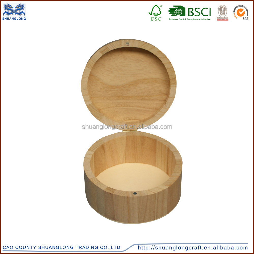 Round Shape Custom Wooden Jewelry Box, Ring Box,Ring Case Sets