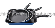 non stick carbon steel fry pan with 28cm grill pan