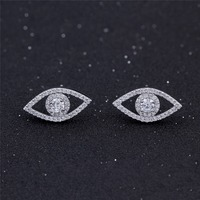 China Factory Direct Wholesale Turkish Crystal Evil Eye Stud Earrings