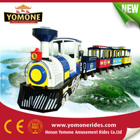 Model trains for choose Travel tourism train Trackless train on sale