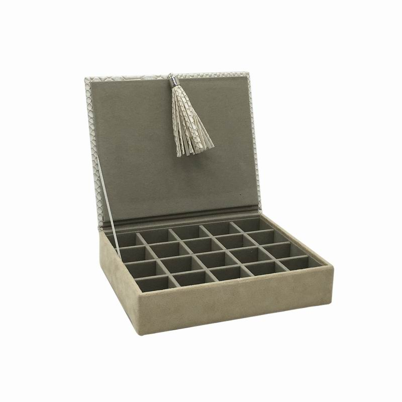 jewelry box for universal use or for ear studs,jewelry paper leather box