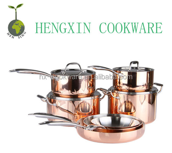 copper cladding german cookware set