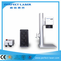 cattle ear tags fiber laser marking machine with flying marking