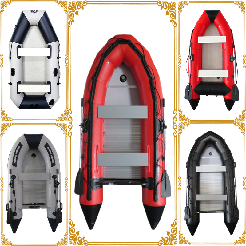commercial cheap inflatable boat for sale outdoor lake fishing boat customized aluminum boat from China factory