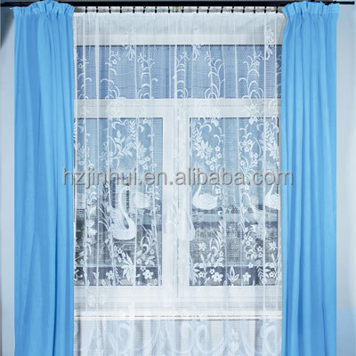 Jacquard lace window curtains swans new