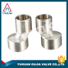brass double joints pipe fittings elbow chromed full port nickel plated CE bellows BSP/NPT thread connector male in YUHUAN OUJIA