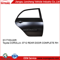 Steel Rear Door For Toyota Corolla 07-12 Japanese Car body parts