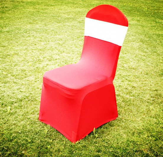 cheap red banquet spandex/lycra chair cover