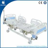 China BT-AE102 3 motors electric hospital patient bed with silent wheels, ABS side rails