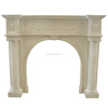 French Hand Carved Natural Marble Fancy Fireplaces