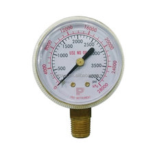 OXYGEN OR ACETYLENE REGULATOR PRESSURE GAUGE