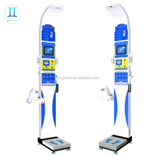 Digital height weight measure bmi and body fat scale machine