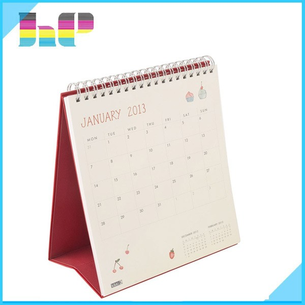 Latest customized professional wholesale C2S board paper table calendar printing