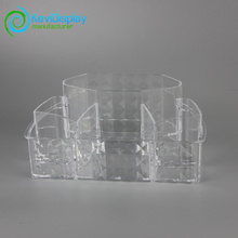 Large Clear Plastic Makeup Organizer With Diamond Pattern
