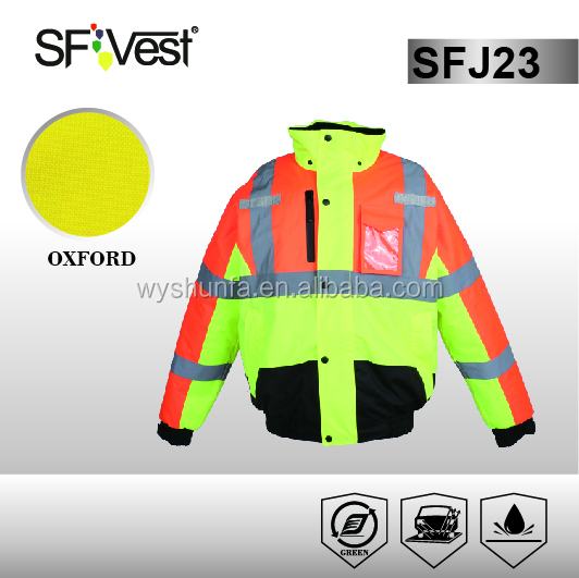 yellow polyester 3m reflective anti-static fire resistant safety jacket