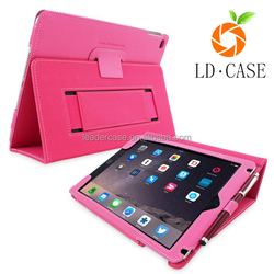 leather multi-folding stand function leather case for iPad air ,sleep function tablet case for iPad pro