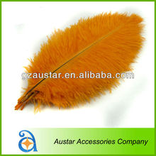 Orange Ostrich Feather for Wedding in bulk