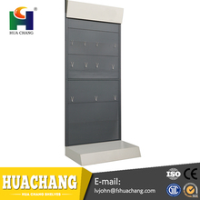 free custom design wholesale turntable wall metal display shelf rack stand for electric merchandise shop