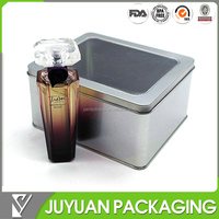 gift cosmetic tin box with window tin canister wholesale