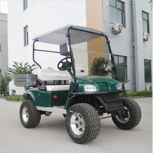 Newest 2 person cargo bed golf car for sale in green color