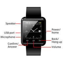 Best Selling China Smart Watches U80 Bluetooth Sport U80 Smart Watch Wrist Touch Screen Mate For Android IOS