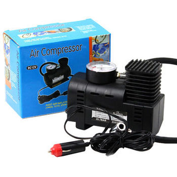 Portable Mini Auto Air Compressor with Car Charger (DC 12V/10-300PSI)