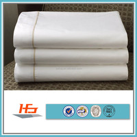 100% cotton plain white poplin full size flat sheet bed sheet for hotel and home