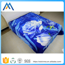 Wholesale heavy fluffy fleece thick throw blanket