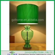 New product metal bottom fabric shade for glass body table lamps