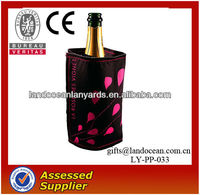 black fabric wine bottle cover