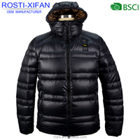 Winter Outwear Super Warm Men's Thick Duck Down Jacket With Hood