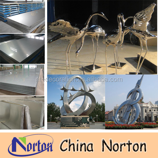 stainless steel sculpture /garden Stainless steel sculpture NTS-002