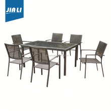 Satisfying service factory supply rattan patio furniture bamboo set