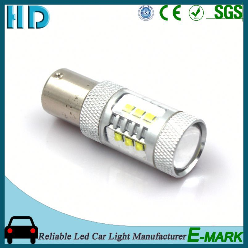 2016 Latest BA15S -16SMD (CREE2525) -W-12V 12v tuning led light car for toyota corolla fog lamp