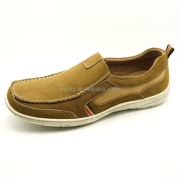 nubuck material made by order casual shoes quality assurance men genuine leather loafers
