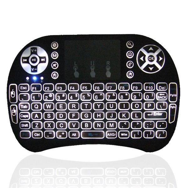 2016 Hot I8 Pro 2.4GHz Black cheap wireless mini arabic keyboard for android tv box