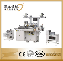SanBen Auto Flatbed Sticker Label die cutting machine Hot Foil Stamping die-cutting machine for roll to roll with high speed