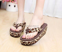 Summer lady slippers heighten shoes, thick sole beach sandals