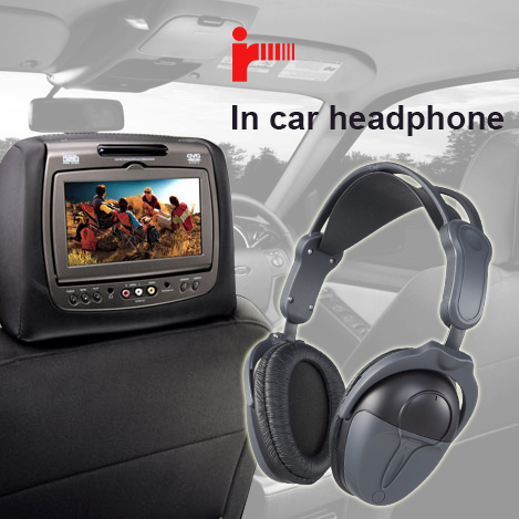 ISO 16949 certified best ir wireless headphones for car dvd player