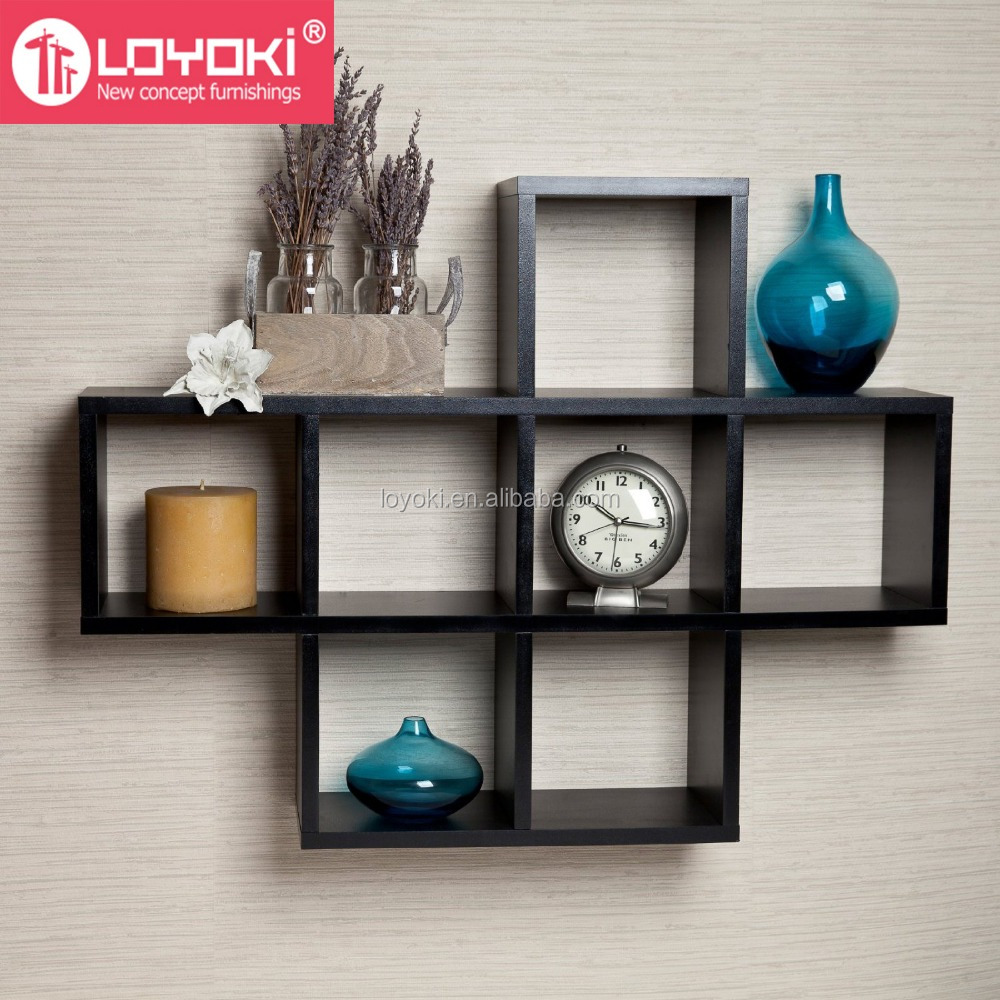 Home Wall Decor Cubby Laminate Display Intersecting
