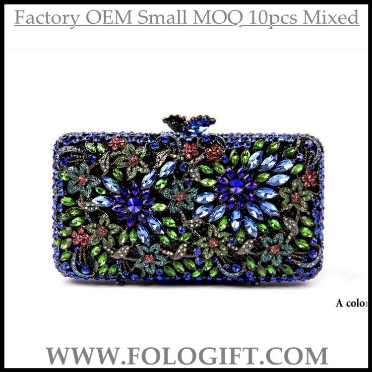 Cheap Women handbag indian clutch purses wholesale indian brass clutch purses Christmas gifts